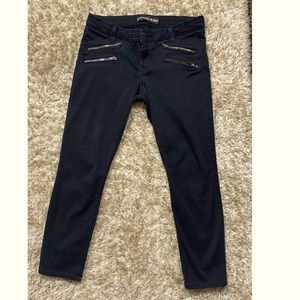 Express black pants with double zipper